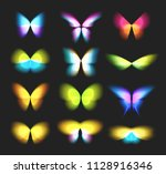 butterfly isolated logos set.... | Shutterstock .eps vector #1128916346