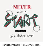 typography slogan  with stripe... | Shutterstock .eps vector #1128923486