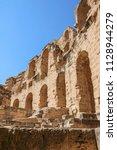 el jem  tunisia   june 25  1018 ...   Shutterstock . vector #1128944279