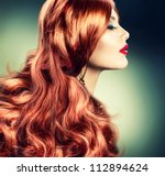 red hair.fashion red haired... | Shutterstock . vector #112894624