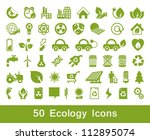 50 ecology and recycle icons ... | Shutterstock .eps vector #112895074