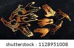 vector illustration. hands with ... | Shutterstock .eps vector #1128951008