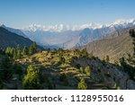 view point of golden peak ... | Shutterstock . vector #1128955016