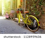 Yellow And Pink Color Bicycles...