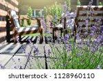 lavender in the backyard garden ... | Shutterstock . vector #1128960110