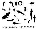 vector arrows black | Shutterstock .eps vector #1128963899
