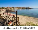 seaside landscape   view of the ... | Shutterstock . vector #1128968849