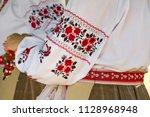 beautiful ukrainian embroidery... | Shutterstock . vector #1128968948