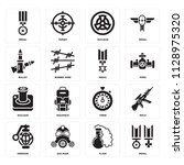 set of 16 icons such as medal ...