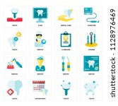 set of 16 icons such as tooth ... | Shutterstock .eps vector #1128976469