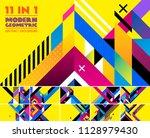 modern geometric vector... | Shutterstock .eps vector #1128979430