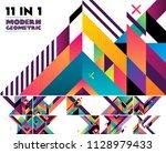modern geometric vector... | Shutterstock .eps vector #1128979433