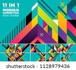 modern geometric vector... | Shutterstock .eps vector #1128979436