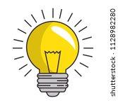 bulb light energy icon | Shutterstock .eps vector #1128982280