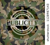 publicity on camo pattern | Shutterstock .eps vector #1128987143