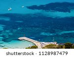 aerial view of tropical... | Shutterstock . vector #1128987479
