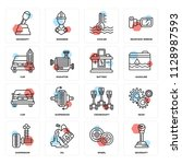 set of 16 icons such as...   Shutterstock .eps vector #1128987593