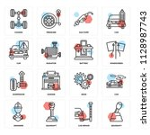 set of 16 icons such as...   Shutterstock .eps vector #1128987743