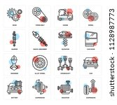 set of 16 icons such as...   Shutterstock .eps vector #1128987773