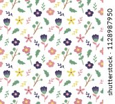 seamless pattern with cute...   Shutterstock .eps vector #1128987950