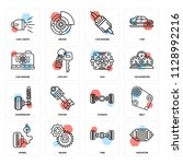 set of 16 icons such as...   Shutterstock .eps vector #1128992216