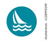 sailboat  sailing. easily... | Shutterstock .eps vector #1128995249