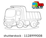 happy tipper. coloring page for ... | Shutterstock .eps vector #1128999008