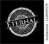 eternal chalk emblem written on ... | Shutterstock .eps vector #1128999179