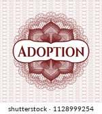 red passport style rossete with ... | Shutterstock .eps vector #1128999254