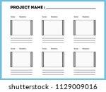 film storyboard composition... | Shutterstock .eps vector #1129009016