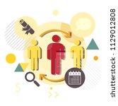 human resource management... | Shutterstock .eps vector #1129012808
