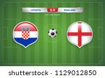 croatia vs england scoreboard... | Shutterstock .eps vector #1129012850