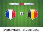 france vs belgium scoreboard... | Shutterstock .eps vector #1129012853