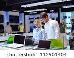 people in consumer electronics  ... | Shutterstock . vector #112901404