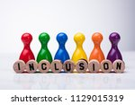 wooden cork with inclusion text ... | Shutterstock . vector #1129015319