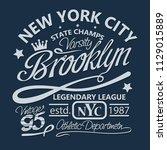 t shirt stamp new york graphic...   Shutterstock . vector #1129015889