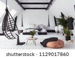 modern open plan apartment in... | Shutterstock . vector #1129017860