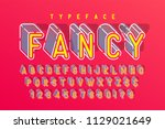 condensed display font popart... | Shutterstock .eps vector #1129021649