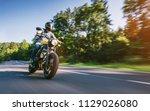 Modern Scrambler Motorbike On...