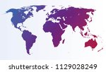 polygonal world map | Shutterstock .eps vector #1129028249