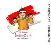 17 august indonesian game... | Shutterstock .eps vector #1129028828