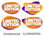 set limited edition tags ... | Shutterstock .eps vector #1129035950