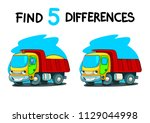 find five differences. task for ... | Shutterstock .eps vector #1129044998