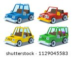 cartoon car set | Shutterstock .eps vector #1129045583