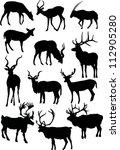illustration with horned animal ...   Shutterstock . vector #112905280