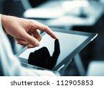 Man Holding Digital Tablet ...