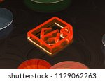 neon red file code icon on the...