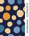 seamless dots pattern with dark ... | Shutterstock .eps vector #1129063076