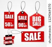 big sale label.   Shutterstock .eps vector #1129069370