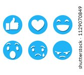 smiles flat icon with shadow.... | Shutterstock .eps vector #1129070849